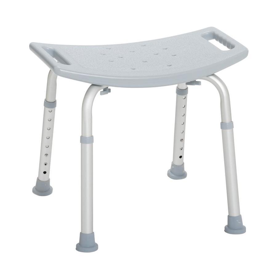 Drive Medical Grey Plastic Freestanding Shower Chair