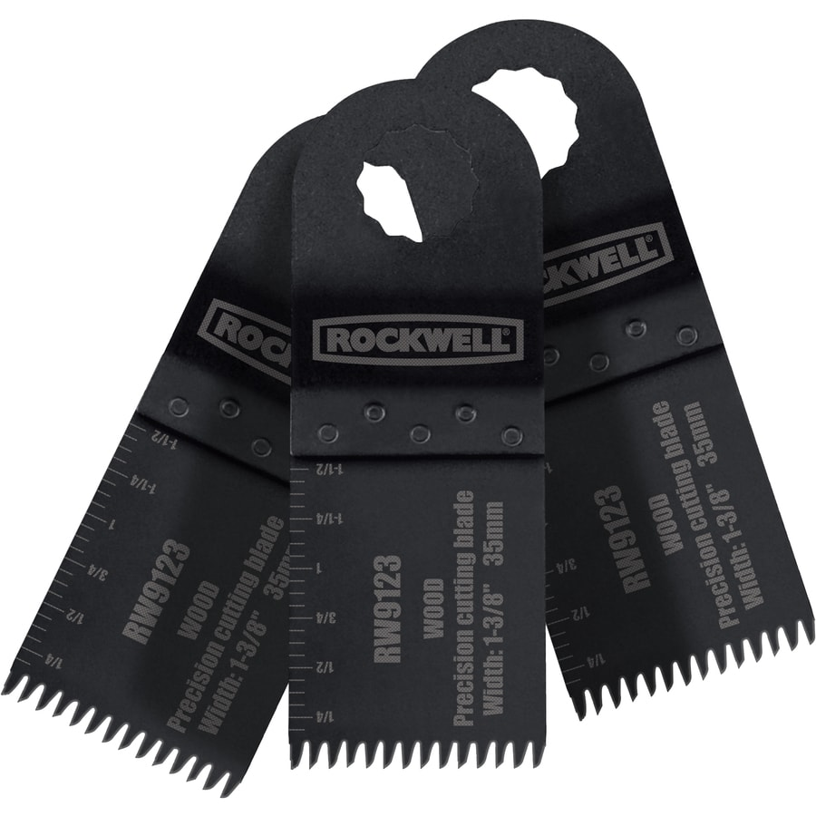 ROCKWELL Sonicrafter 3-Pack High Speed Steel Oscillating Tool Blades