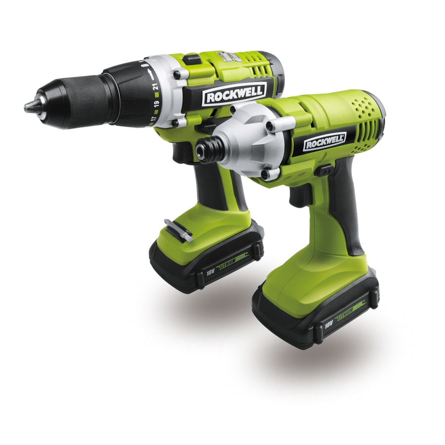 ROCKWELL Lithiumtech 2-Tool 18-Volt Lithium Ion Cordless Combo Kit with Soft Case