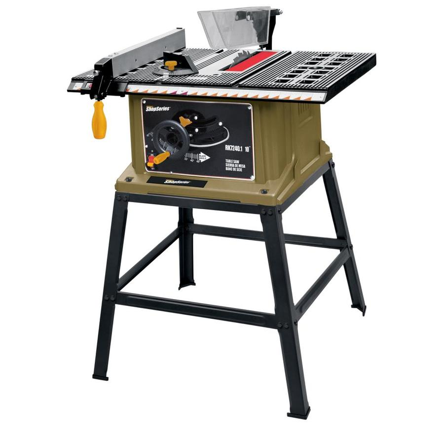 Shop Shop Series By Rockwell 13 Amp 10 In Carbide Tipped Table Saw At