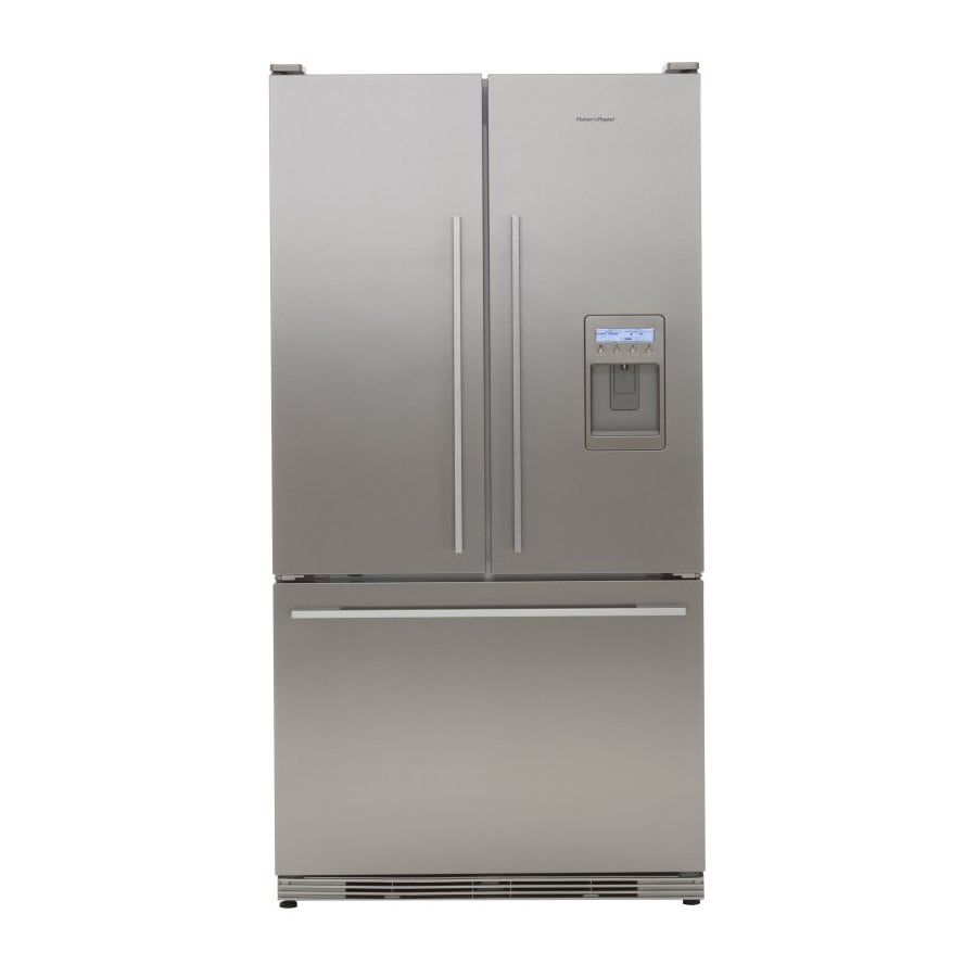 Fisher & Paykel 19.5-cu ft French Door Counter-Depth Refrigerator with Single Ice Maker (Stainless Steel) ENERGY STAR
