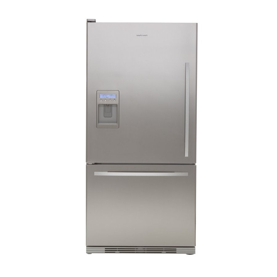 Fisher & Paykel 17.5-cu ft Bottom Freezer Counter-Depth Refrigerator with Single Ice Maker (Stainless Steel) ENERGY STAR