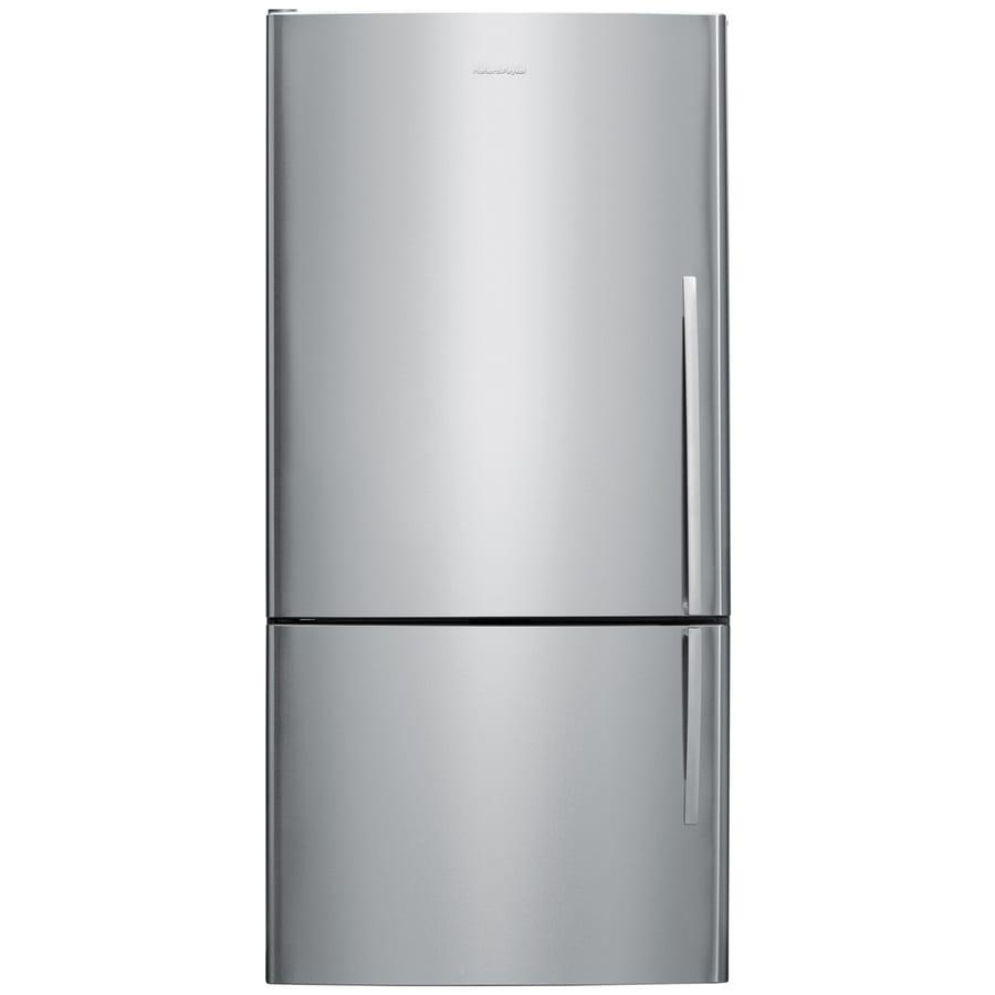 shop fisher paykel 17 6 cu ft counter depth bottom freezer refrigerator stainless steel. Black Bedroom Furniture Sets. Home Design Ideas