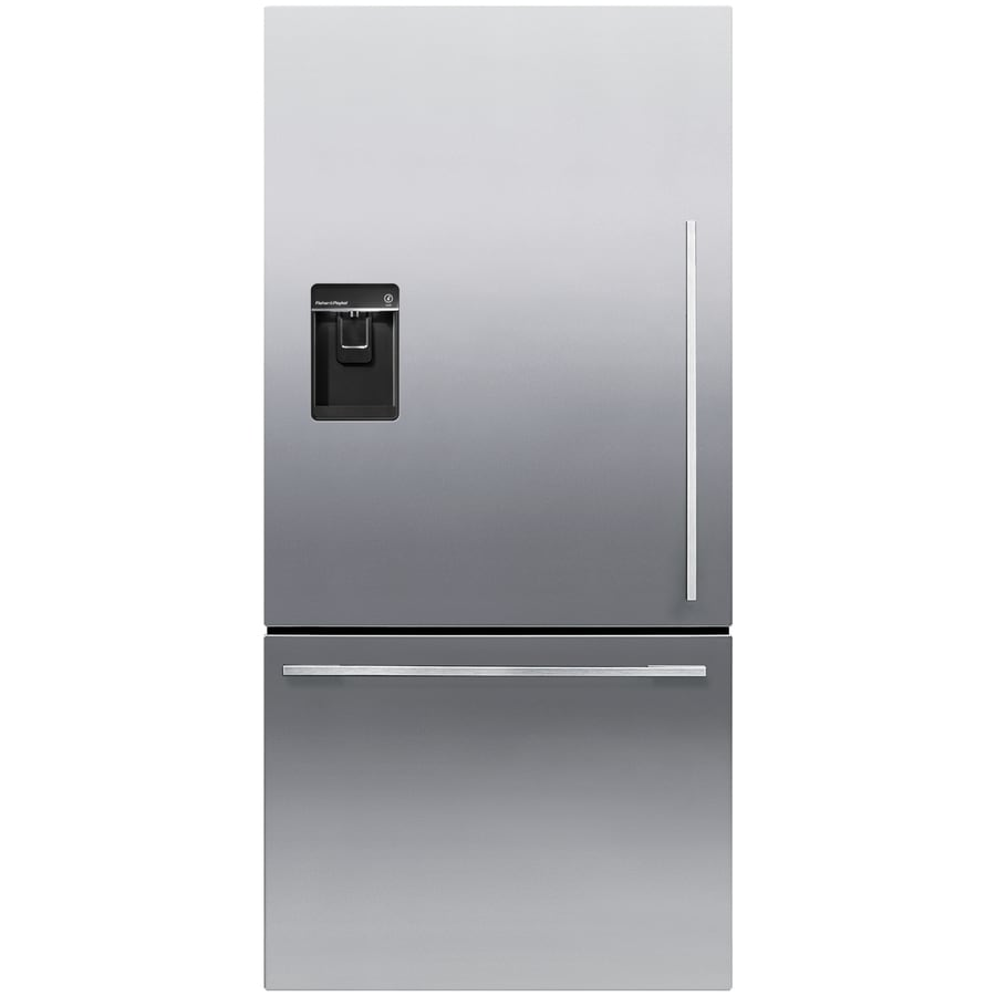 Fisher & Paykel 17.1-cu ft Counter-Depth Bottom-Freezer Refrigerator with Ice Maker (Stainless Steel) ENERGY STAR