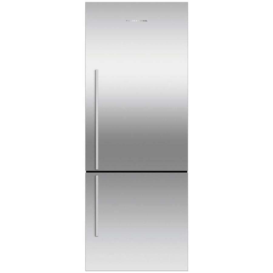 Fisher & Paykel 16.8-cu ft Counter-Depth Built-in French Door Refrigerator with Ice Maker (White) ENERGY STAR