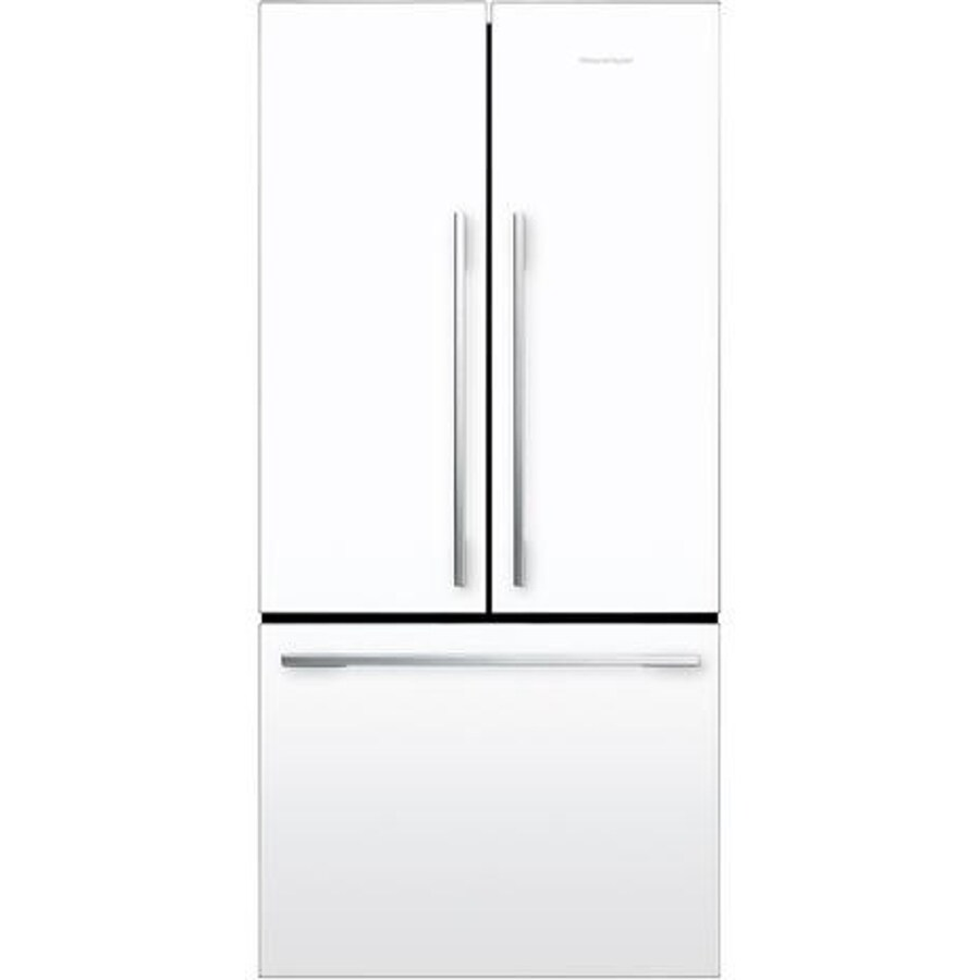 Fisher & Paykel 16.9-cu ft Counter-Depth French Door Refrigerator (White)