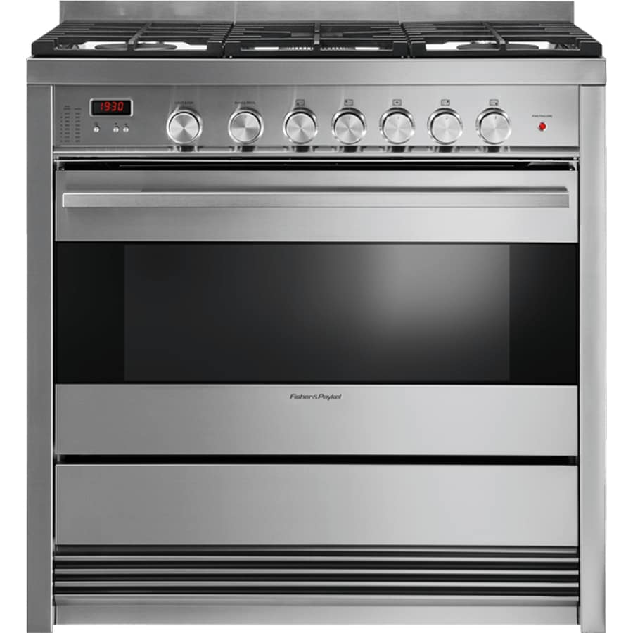Fisher & Paykel 5-Burner Freestanding 3.6-cu ft True Convection Gas Range (Stainless Steel) (Common: 36-in; Actual: 36-in)