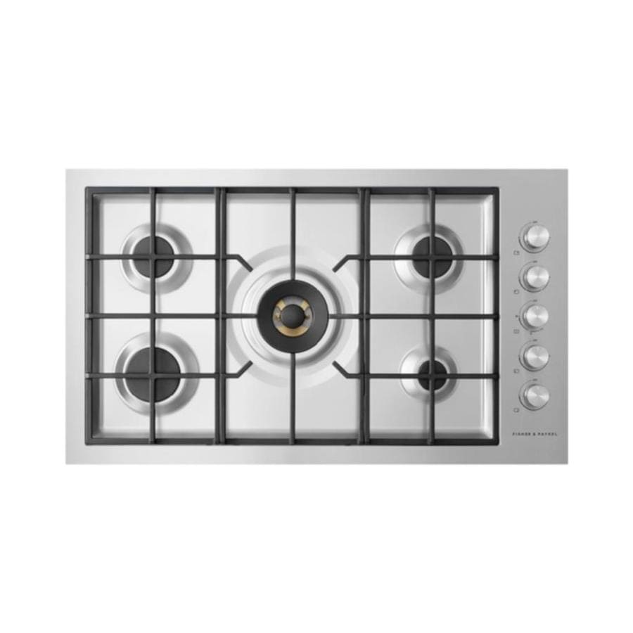 Fisher Paykel 5 Burner Gas Cooktop Stainless Steel Common 36
