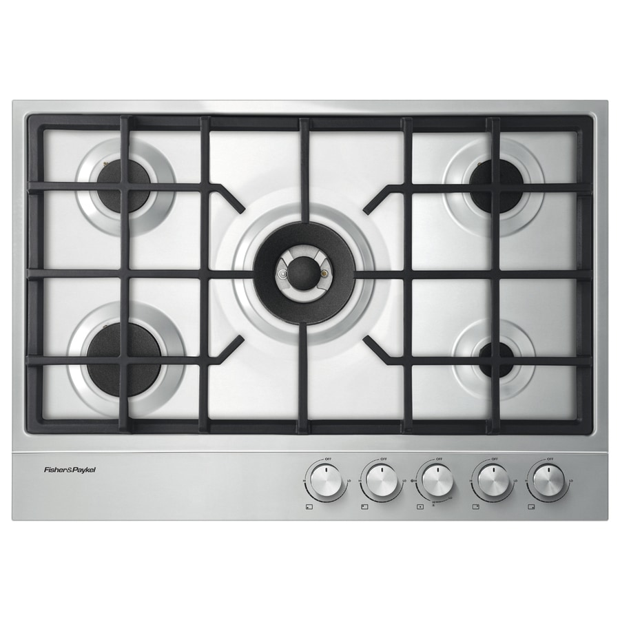Fisher & Paykel 5-Burner Gas Cooktop (Stainless Steel) (Common: 30-in; Actual: 29.53-in)