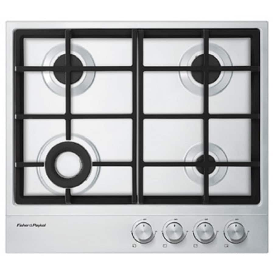 Fisher & Paykel 1 Series 4-Burner Gas Cooktop (Stainless Steel) (Common: 24-in; Actual: 23.63-in)
