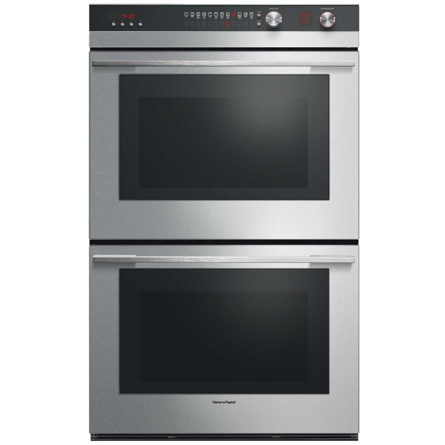 Fisher & Paykel Self-Cleaning Convection Double Electric Wall Oven (Stainless Steel) (Common: 30-in; Actual: 29.906-in)