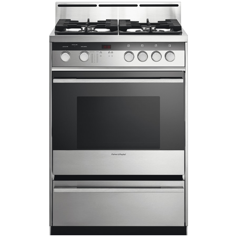 Fisher & Paykel Freestanding 2.5-cu ft Convection Gas Range (Stainless Steel) (Common: 24-in; Actual: 23.87-in)