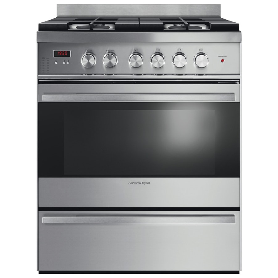 Fisher & Paykel Freestanding 3.6-cu ft Convection Gas Range (Stainless Steel) (Common: 30-in; Actual: 29.87-in)