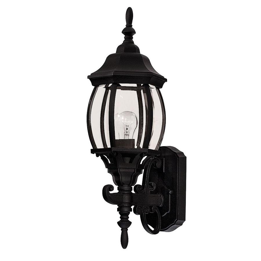 19-in H Black Outdoor Wall Light