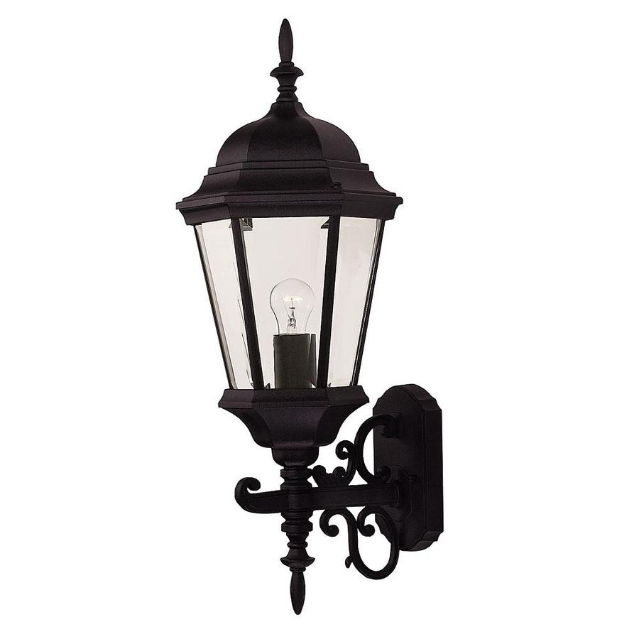 26-in H Black Outdoor Wall Light