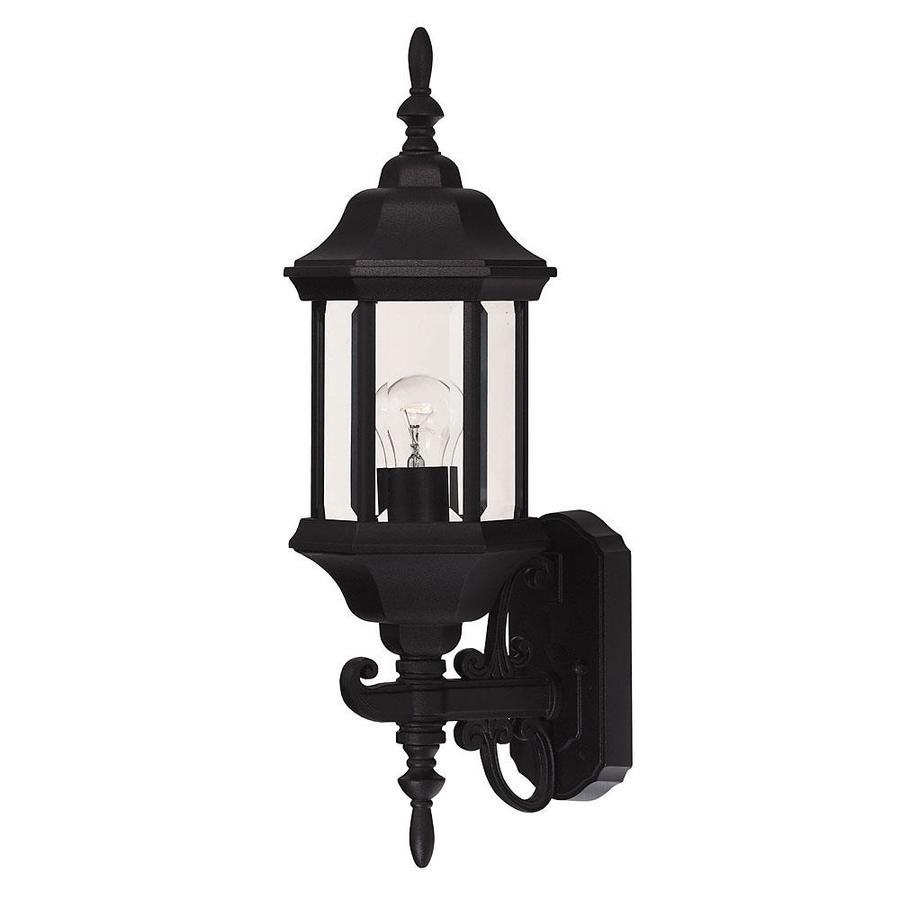 20-in H Black Outdoor Wall Light