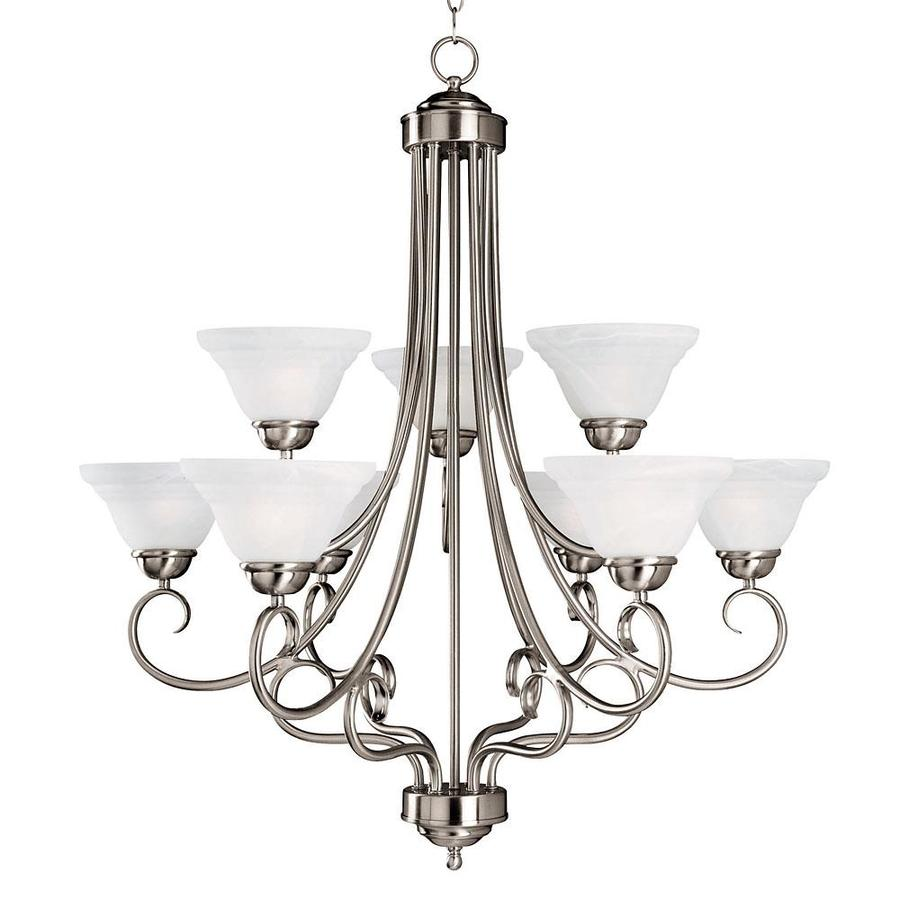 Shandy 30-in 9-Light Satin Nickel Candle Chandelier