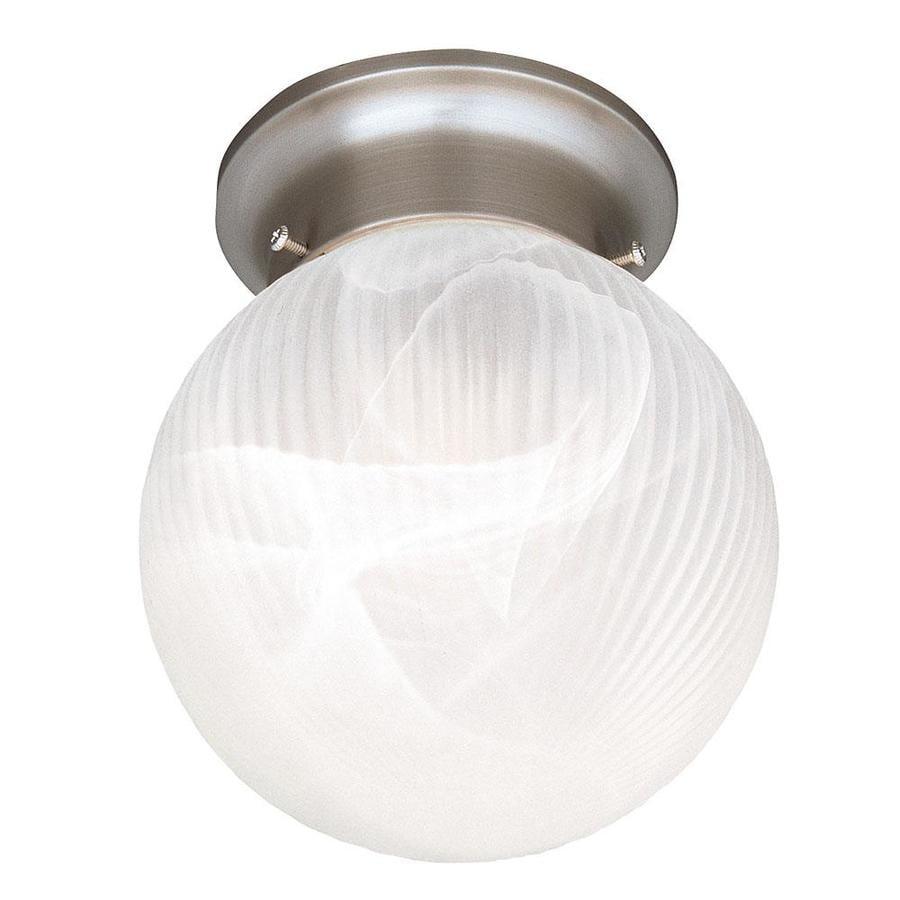 6-in W Satin Nickel Flush Mount Light