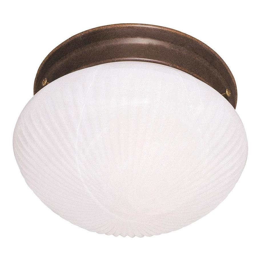 7.48-in W Brownstone Flush Mount Light