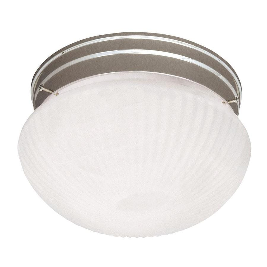 7.48-in W Satin Nickel Flush Mount Light