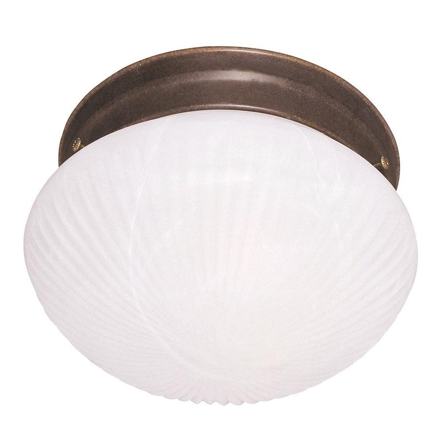 9.8-in W Brownstone Flush Mount Light