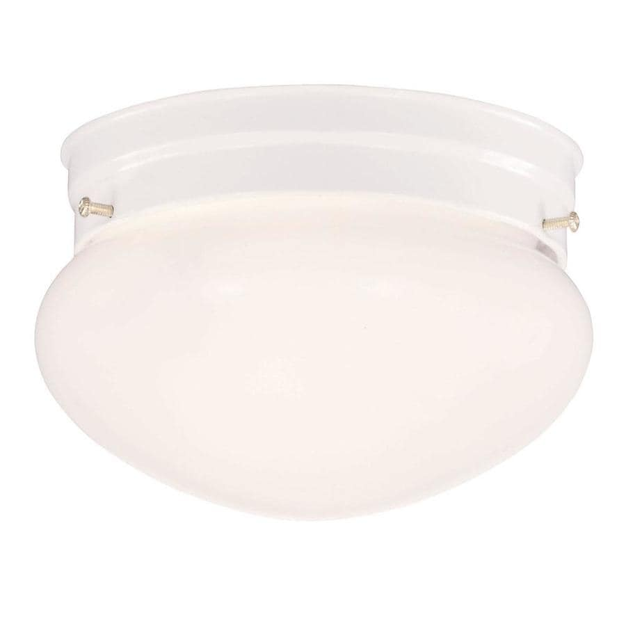 7.59-in W White Flush Mount Light