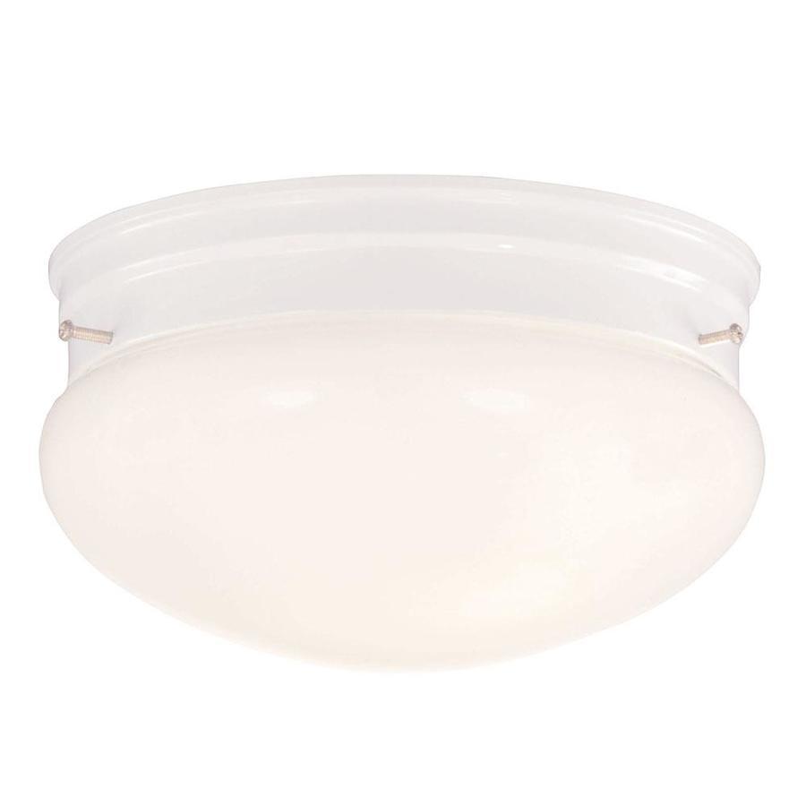 9.44-in W White Flush Mount Light