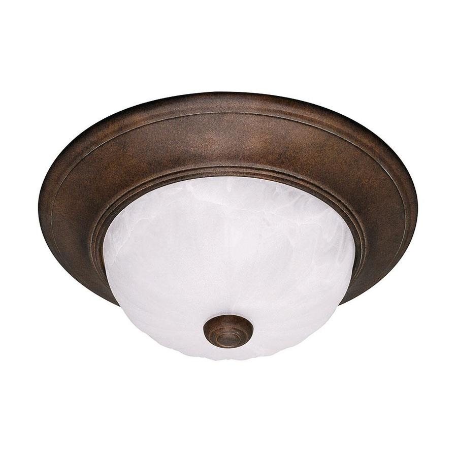 11-in W Brownstone Flush Mount Light