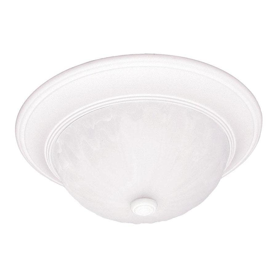 14.09-in W Matte white Flush Mount Light