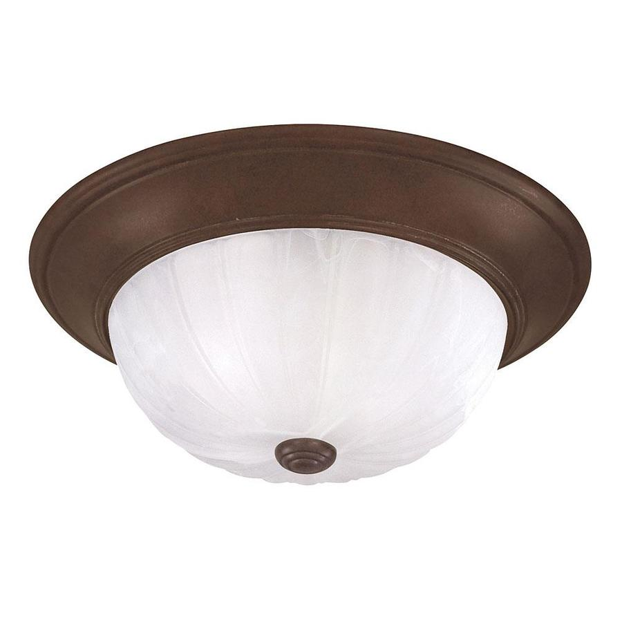 14.09-in W Brownstone Flush Mount Light