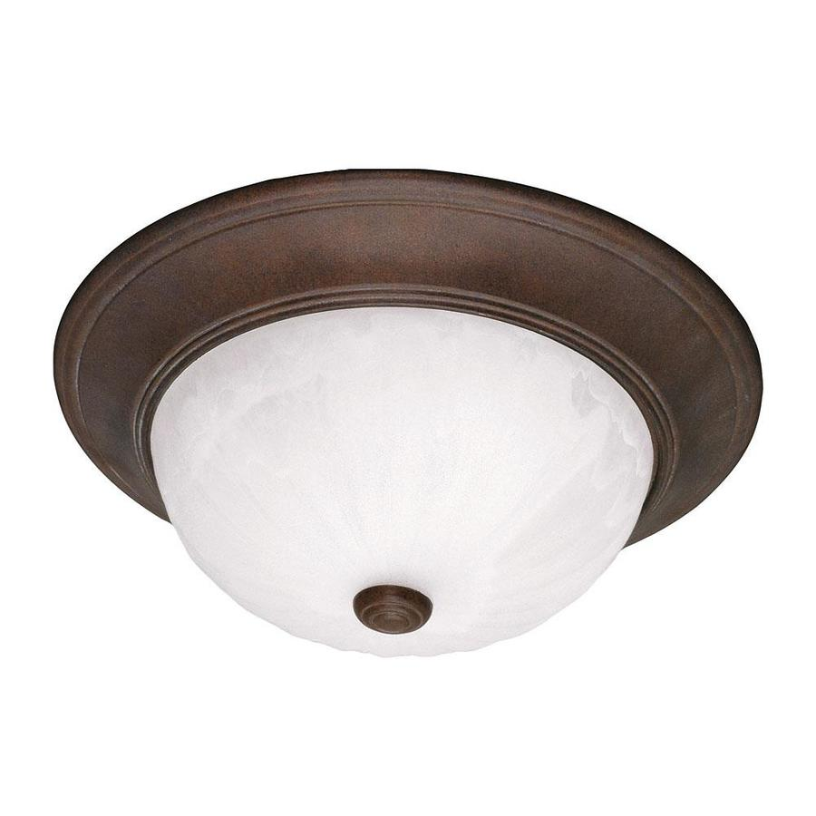15.93-in W Brownstone Flush Mount Light