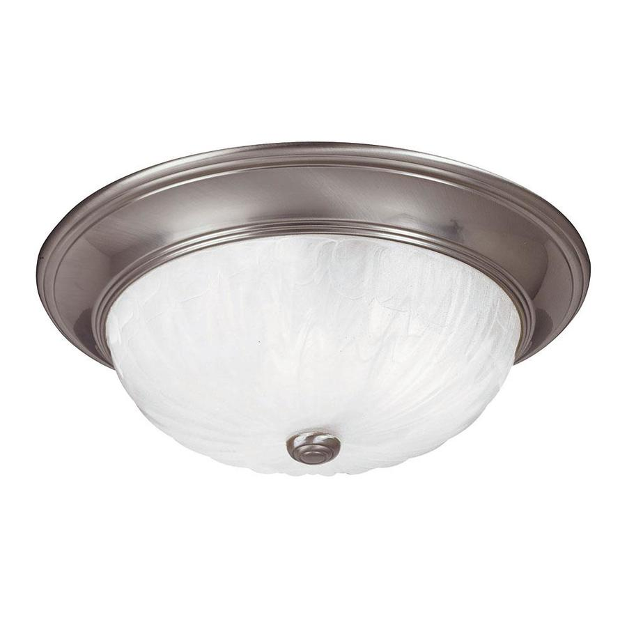 16.17-in W Satin Nickel Flush Mount Light