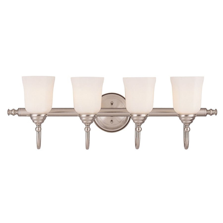 Shandy 4-Light 9-in Satin Nickel Vanity Light