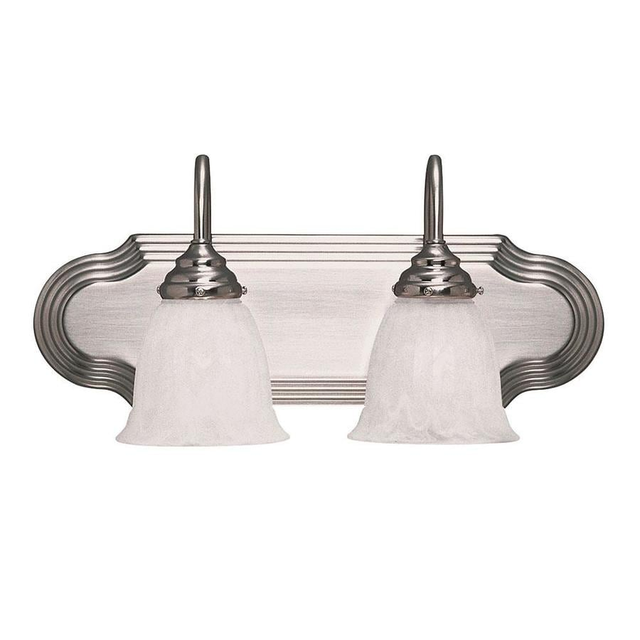 Shandy 2-Light 9-in Satin Nickel Vanity Light