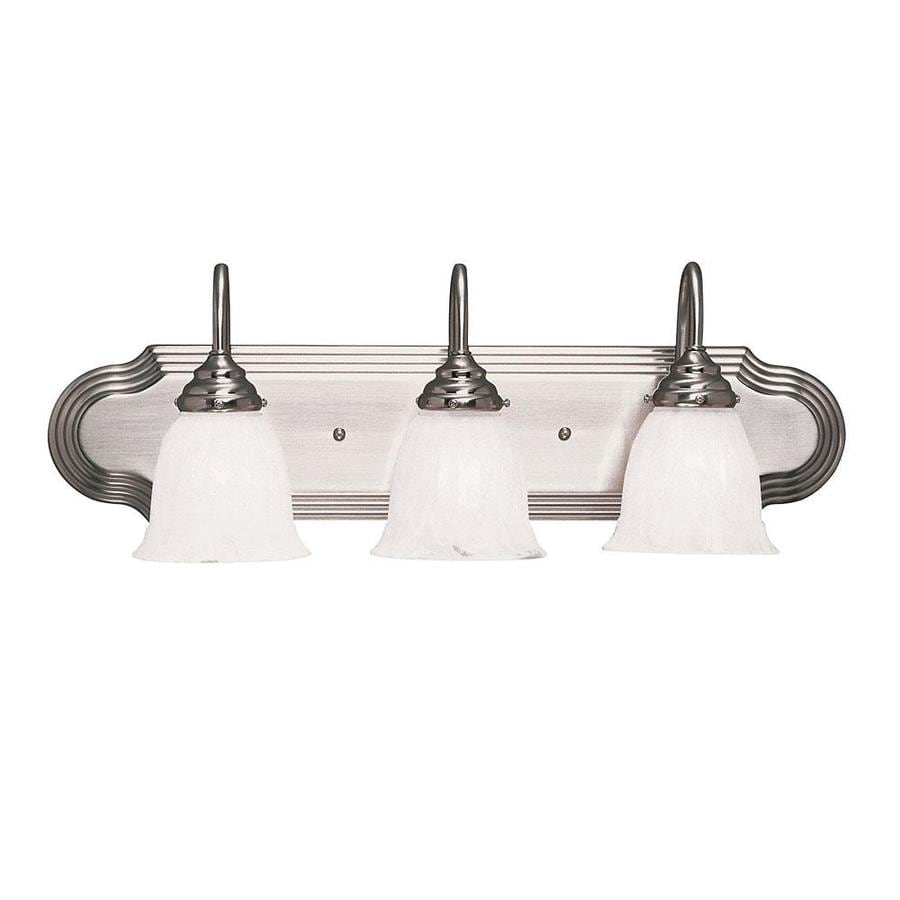 Shandy 3-Light 9-in Satin nickel Vanity Light