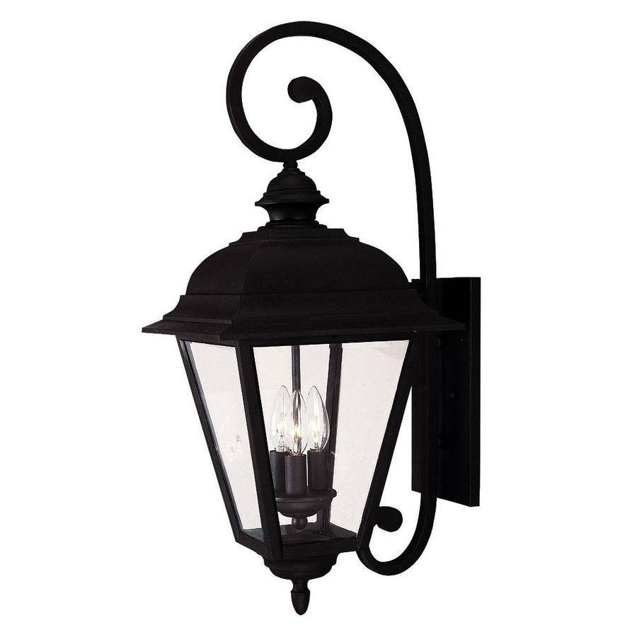 24.5-in H Textured Black Outdoor Wall Light