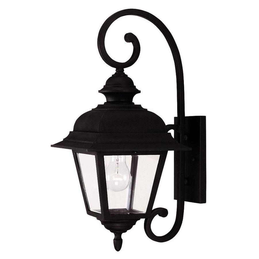 19.5-in H Textured Black Outdoor Wall Light