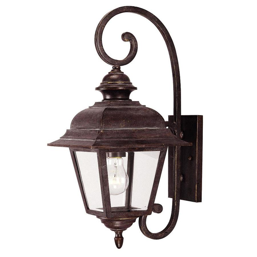 19.5-in H Walnut Patina Outdoor Wall Light