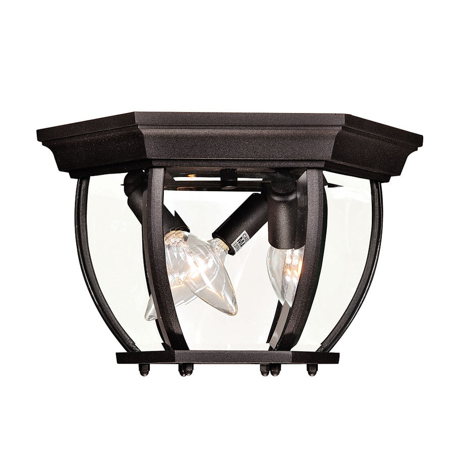 9-in W Bronze Outdoor Flush-Mount Light