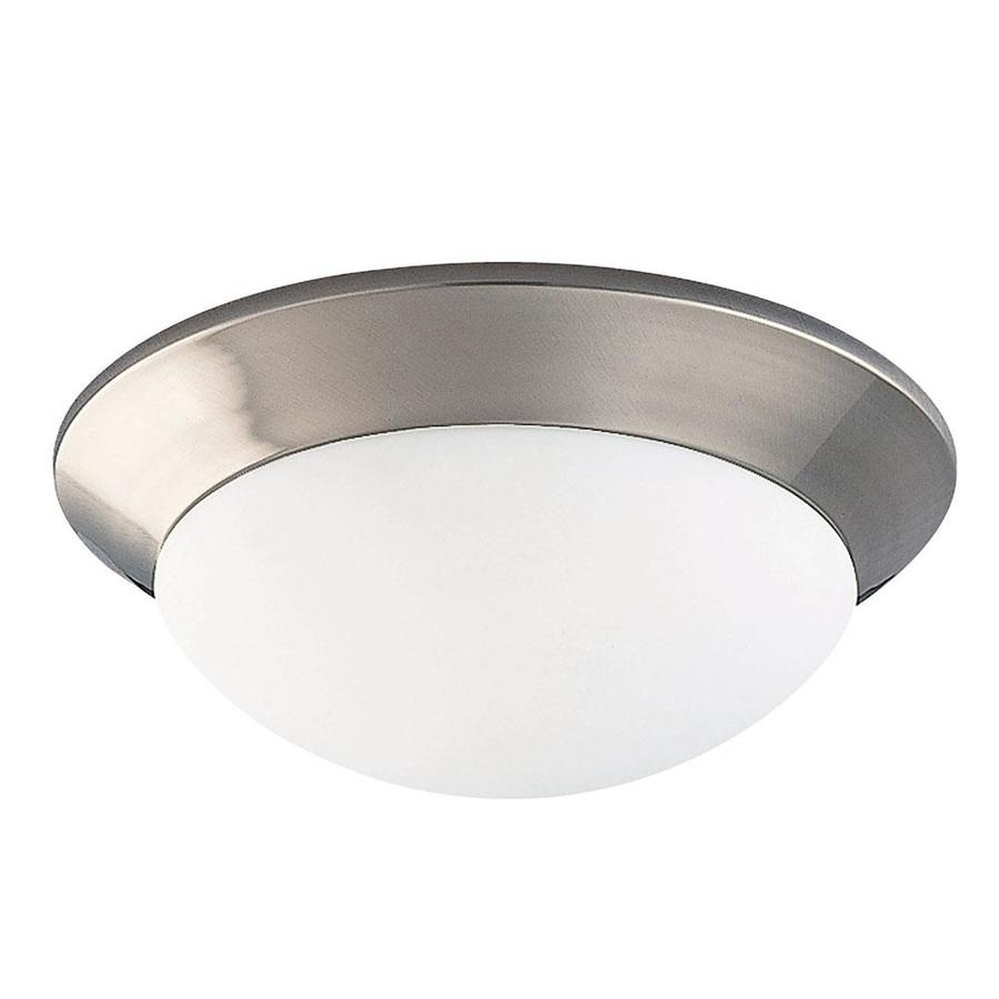 7.35-in W Satin Nickel Flush Mount Light