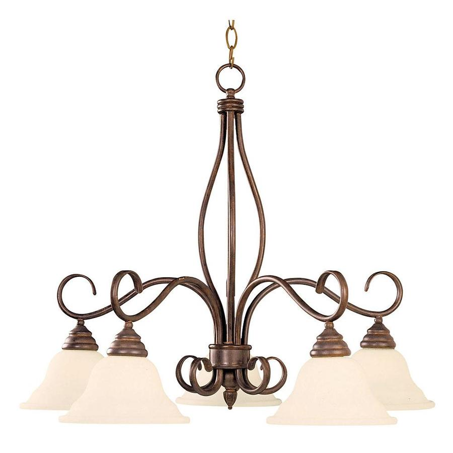 Shandy 29.25-in 5-Light Sunset Bronze Candle Chandelier