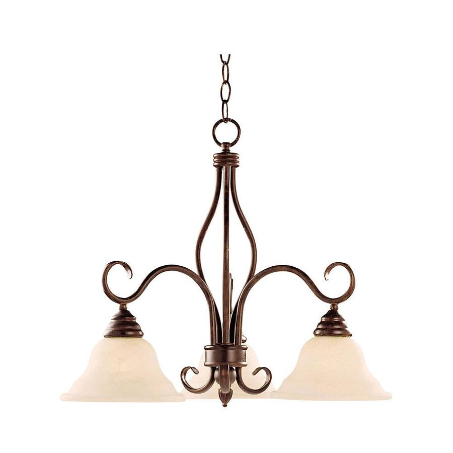 Shandy 23-in 3-Light Sunset Bronze Candle Chandelier