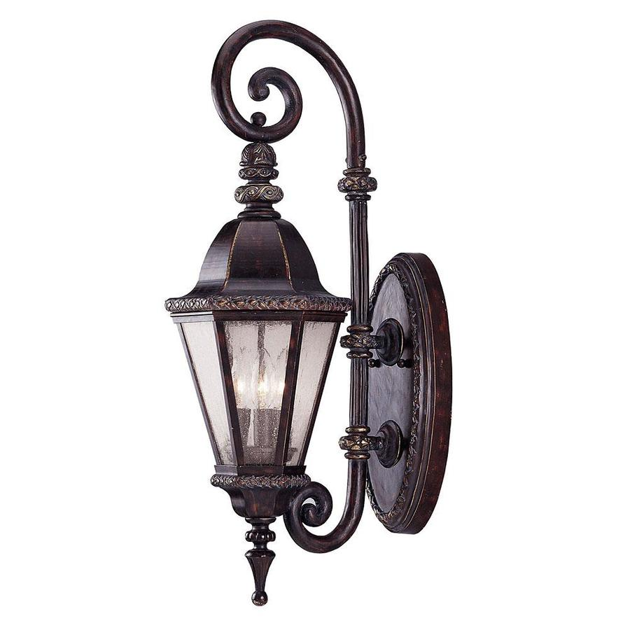 28-in H Bark and Gold Outdoor Wall Light