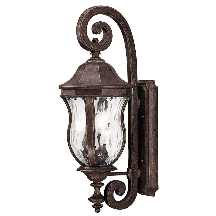 28-in H Walnut Patina Outdoor Wall Light