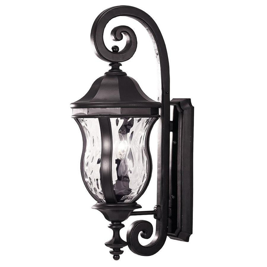 28-in H Black Outdoor Wall Light