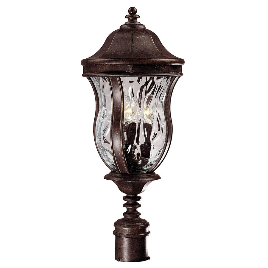 23.37-in H Walnut Patina Post Light
