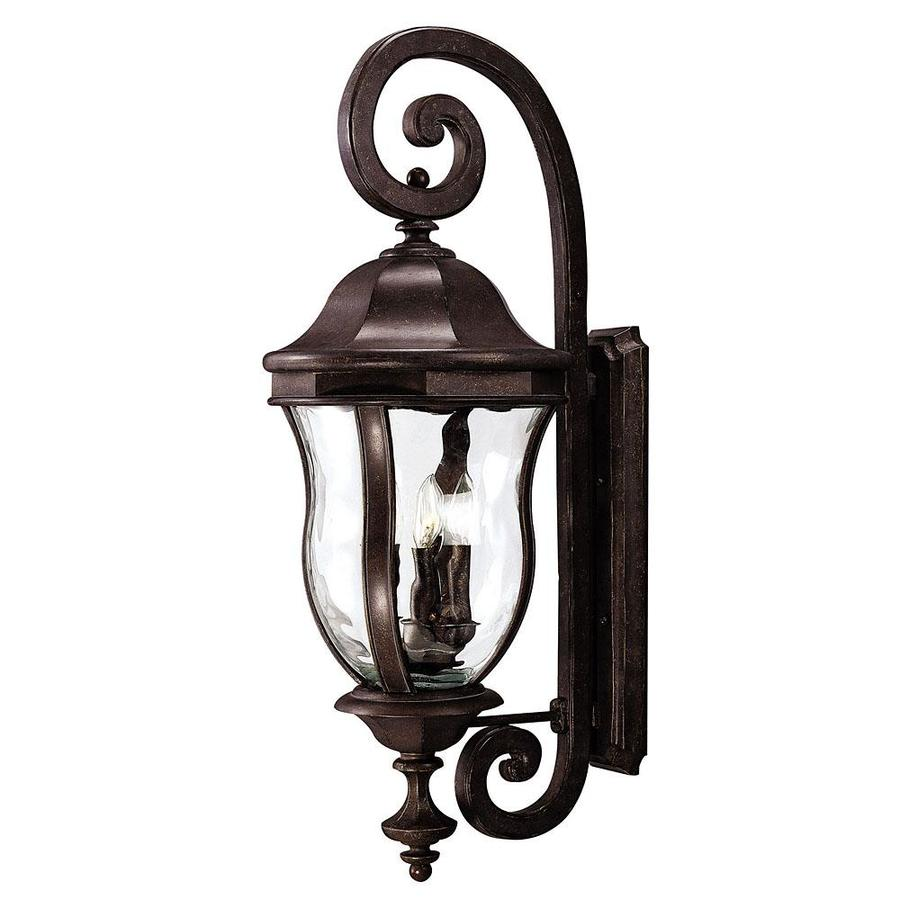 36-in H Walnut Patina Outdoor Wall Light