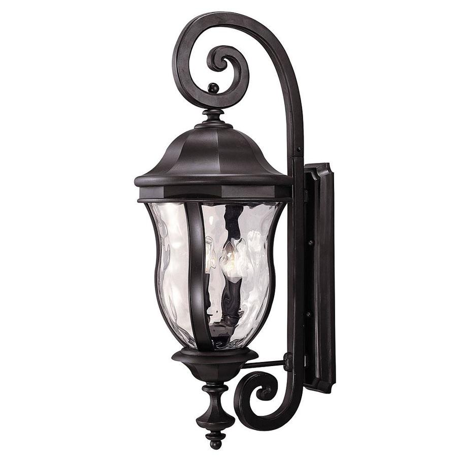 36-in H Black Outdoor Wall Light
