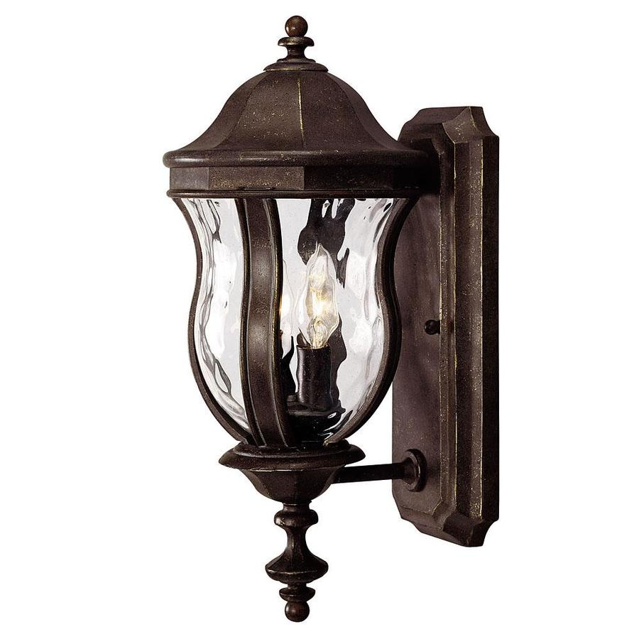 17.87-in H Walnut Patina Outdoor Wall Light
