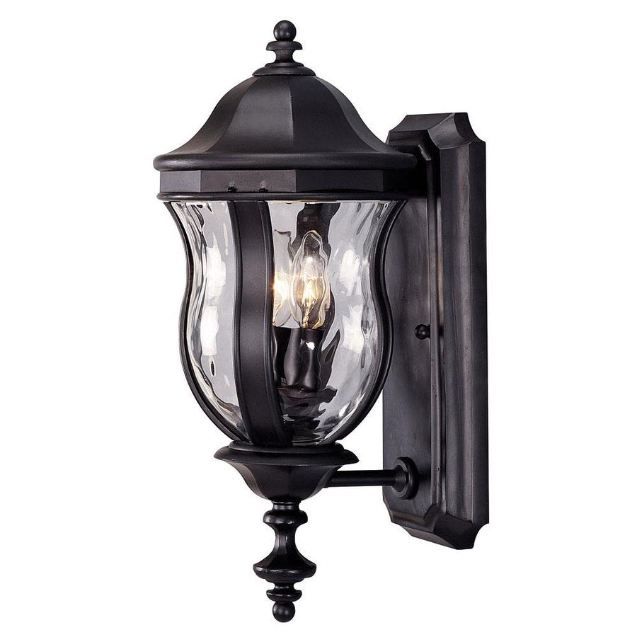 17.87-in H Black Outdoor Wall Light